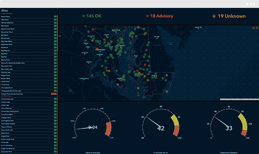 map with dashboard analytics